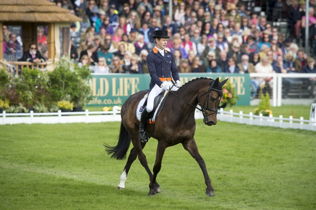 Burton takes Badminton Horse Trials lead after superb dressage test