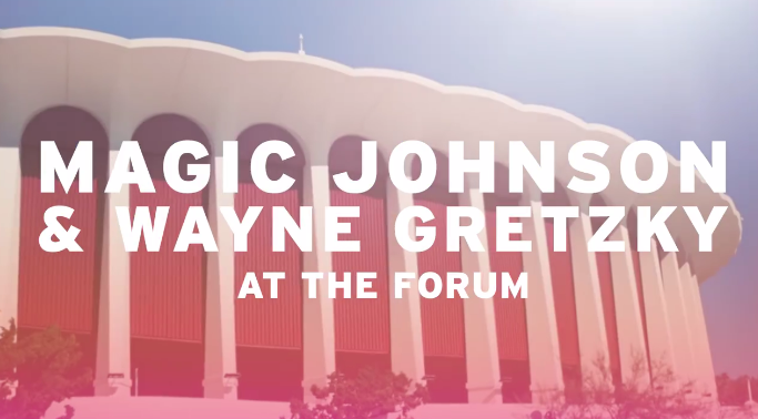 Gretzky and Magic Johnson star in latest Legends of LA film