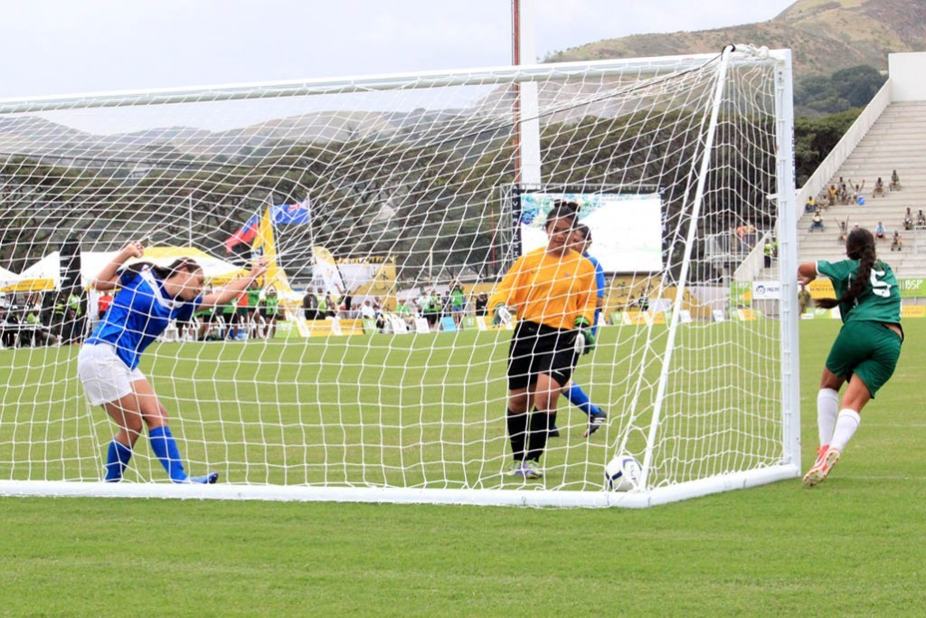 Cook Islands secured their first ever women's football medal by beating Samoa 2-0 in the bronze medal match