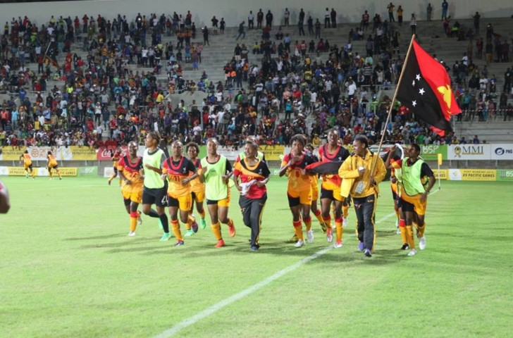 Papua New Guinea overcame New Caledonia with a narrow 1-0 victory to secure their fourth consecutive women's football gold ©Port Moresby 2015