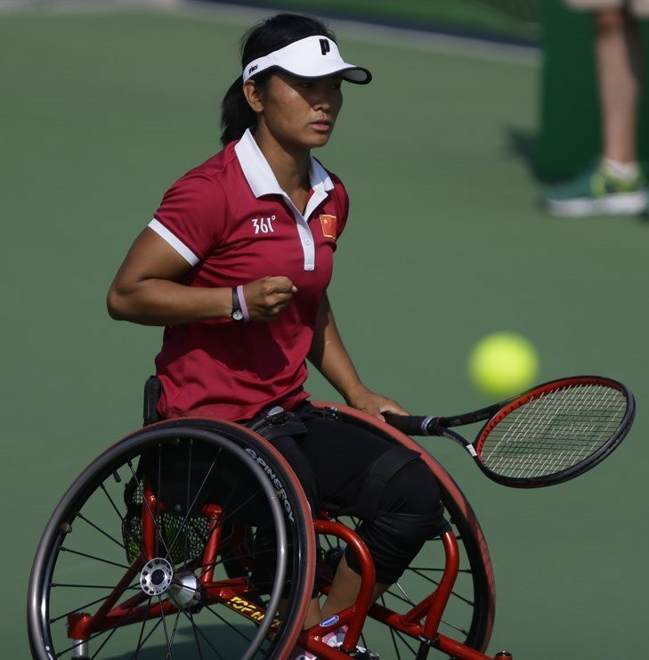 China earned a surprise 2-0 win over the Netherlands ©Twitter/Wheelchair Tennis