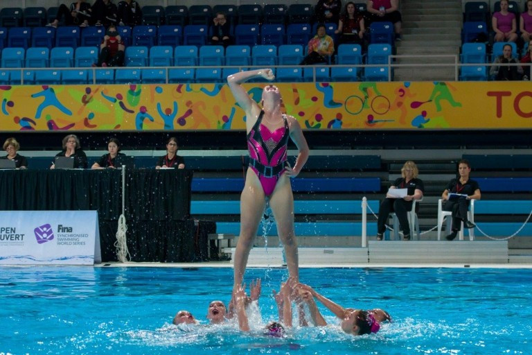 The Calgary Aquabelles also competed at the event ©Synchro Canada
