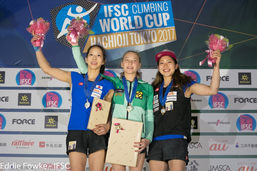 Garnbret and Rubtsov claim gold medals at IFSC Bouldering World Cup