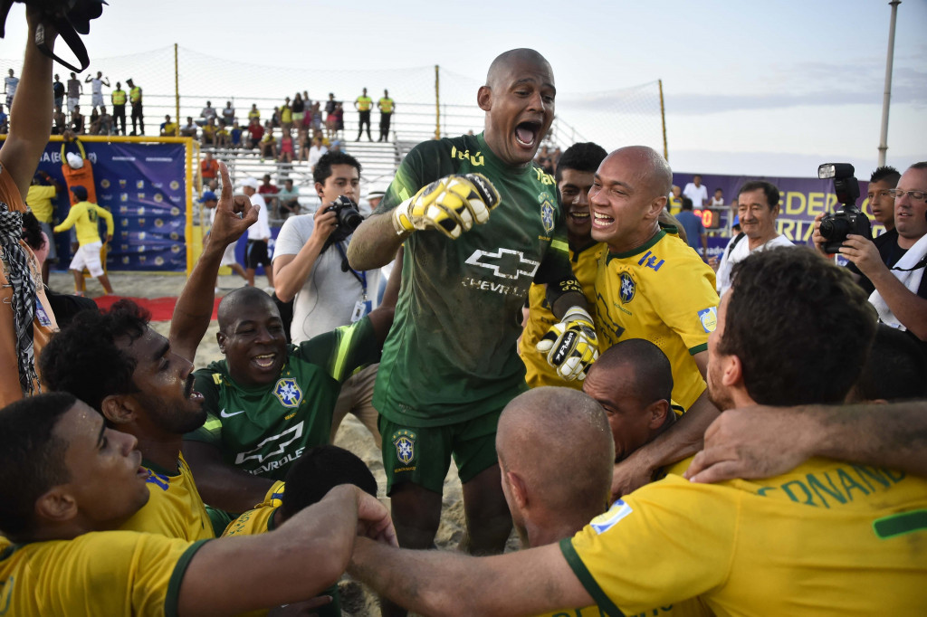 Brazil have won a fifth FIFA Beach Soccer World Cup ©Getty Images