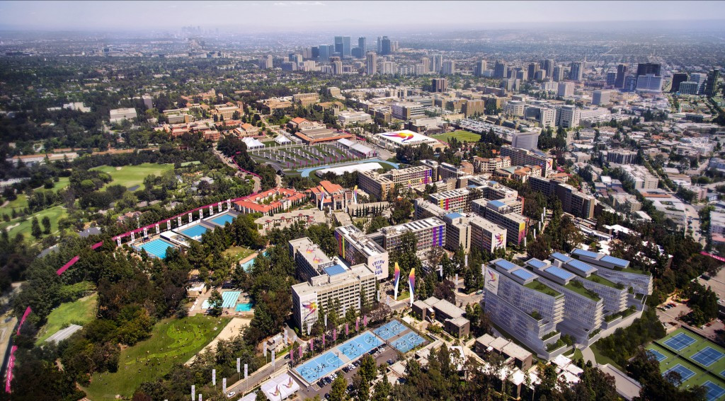 A projection of the Athletes' Village campus at UCLA ©LA2024