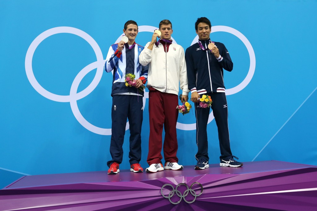 Ryo Tateishi, right, earned a bronze medal at the London 2012 Olympic Games ©Getty Images