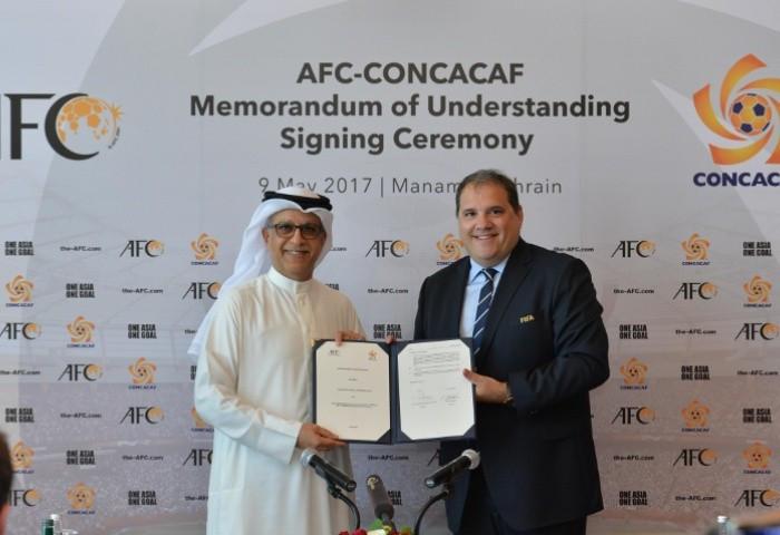 CONCACAF and AFC sign Memorandum of Understanding