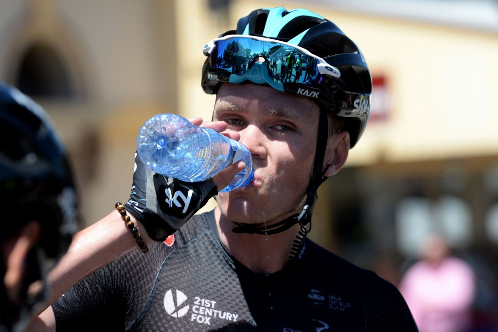 """Tour de France champion Froome """"rammed"""" off bike"""