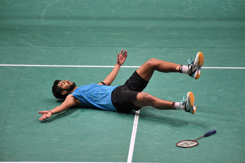 Sai Praneeth has moved into 10th place in the BWF Destination Dubai rankings after his Singapore Super Series victory last month ©Getty Images