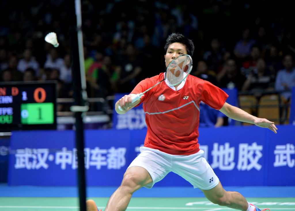 Chou Tien Chen of Chinese Taipei is top of the rankings ©Getty Images
