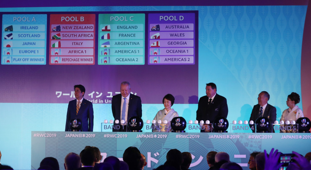 The draw was made at the State Guest House in Kyoto this morning ©Getty Images