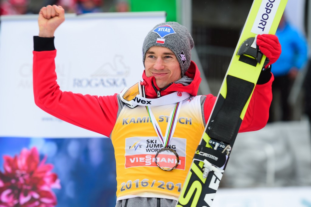 Double Olympic champion Kamil Stoch will headline the Polish team ©Getty Images
