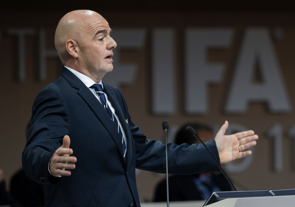 Infantino attacks recent criticism of FIFA in speech at Congress