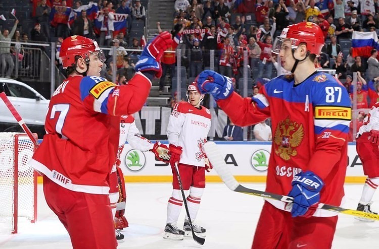 Russia won their fourth consecutive match at the IIHF World Championships today ©IIHF