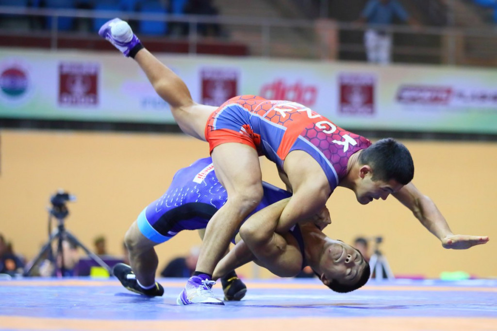 Two gold medals for Japan as action continues at Asian Wrestling Championships