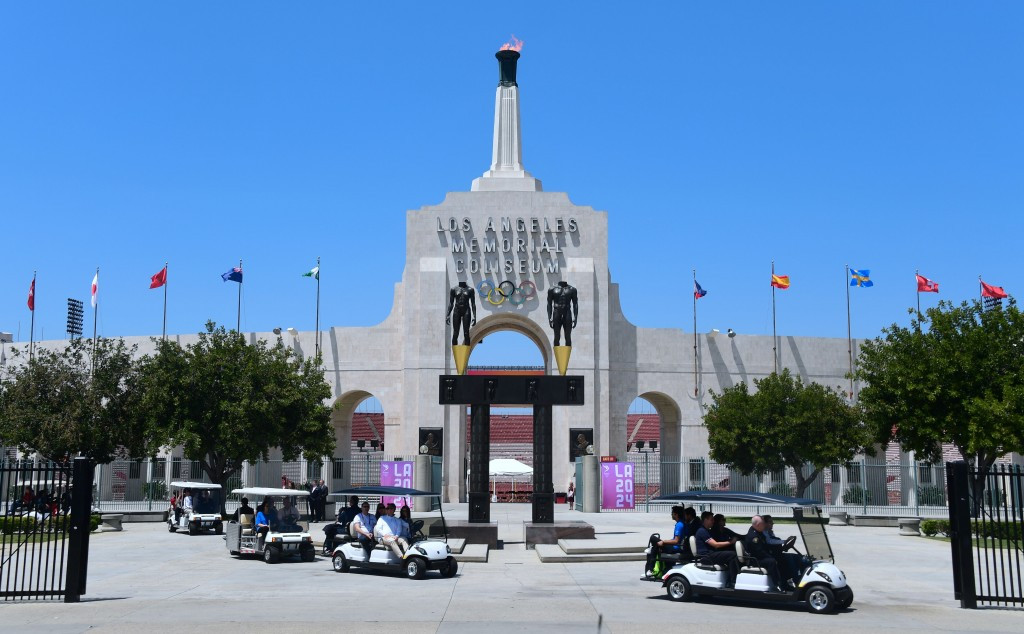 In pictures: IOC Evaluation Commission inspect Los Angeles 2024 venues