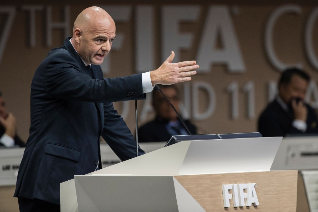 FIFA President Gianni Infantino used his speech at the Congress to attack what he called