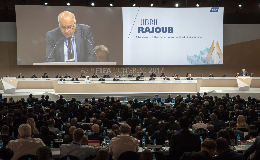 Palestine Football Association President Jibril Rajoub delivered an emotional address to the FIFA Congress ©Getty Images