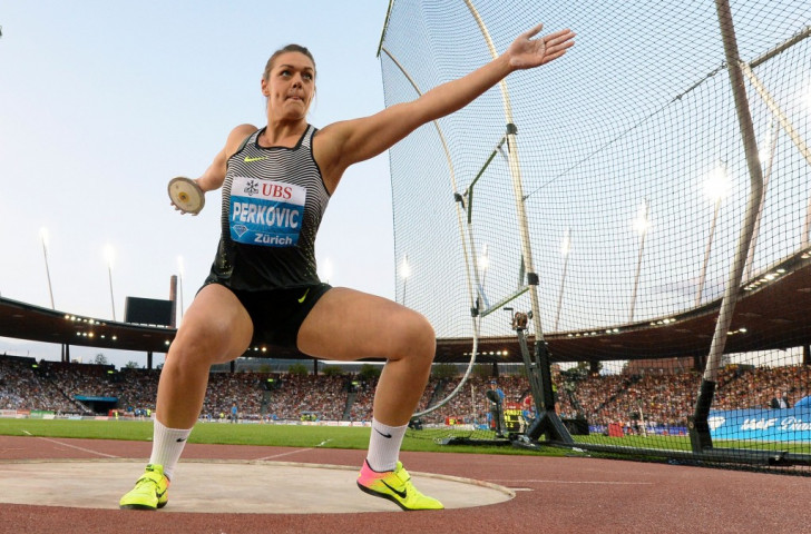Croatia's double Olympic champion Sandra Perkovic is targeting her meeting record of 70.88m in a new style of discus competition alternating male and female throws in Shanghai tomorrow ©Getty Images