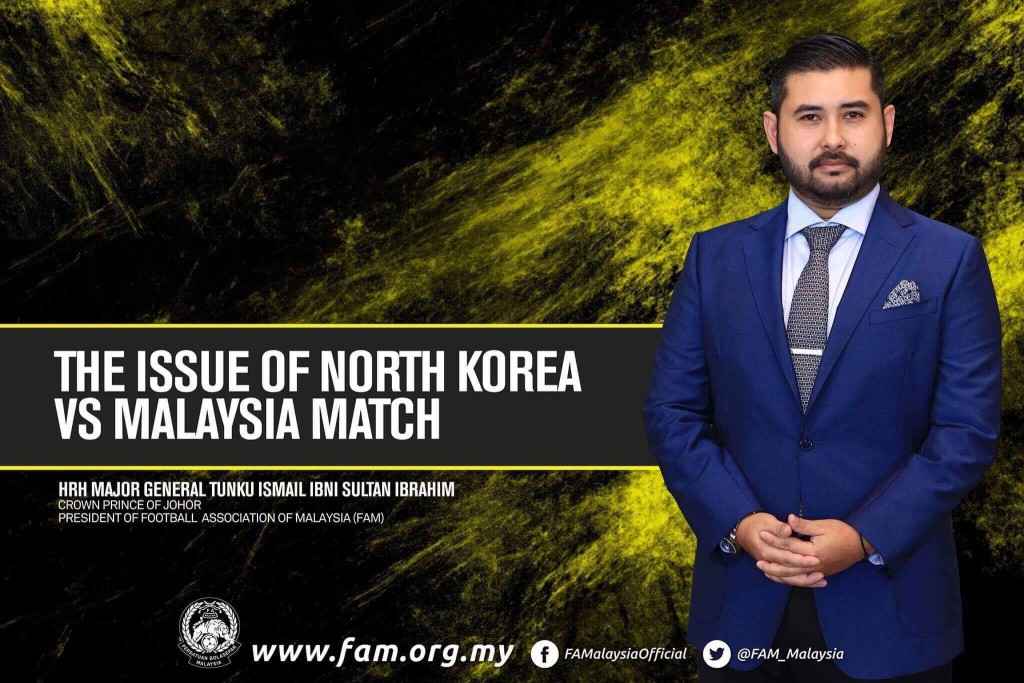 Football Association of Malaysia President Tunku Ismail Sultan Ibrahim has expressed his concern over the match taking place in North Korea ©Facebook/FAMalaysiaOfficial