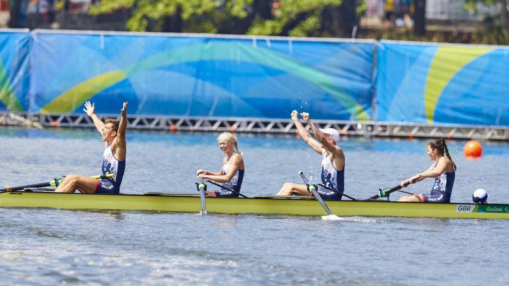 Three of the mixed cox four who won gold at Rio 2016 for Britain are set to compete ©British Rowing