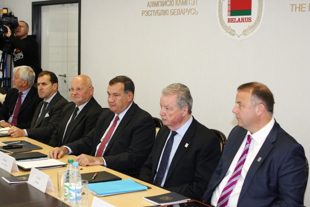 The EOC Coordination Commission held talks with Minsk 2019 organisers today ©NOC RB