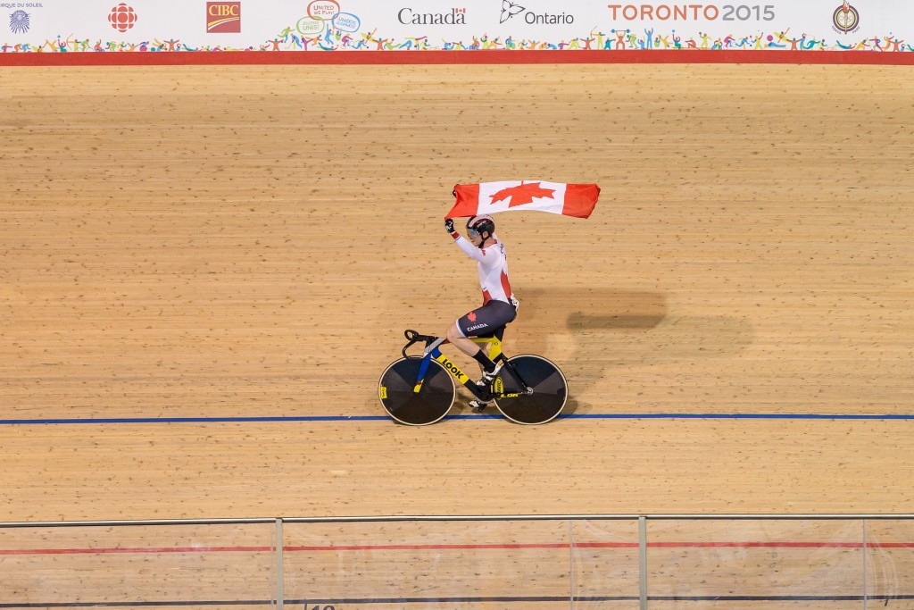 Canada claimed team sprint golds on the opening day of track cycling