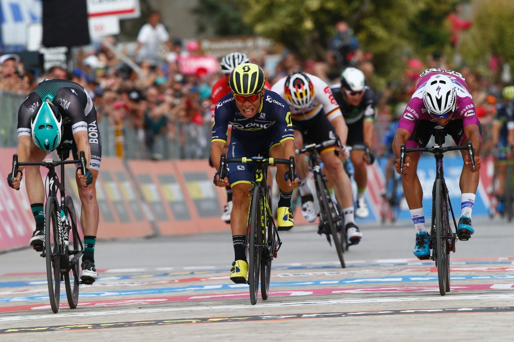 Ewan clinches maiden Giro d'Italia stage win after three-way sprint finish
