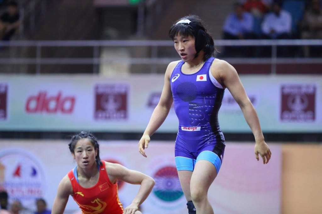 Japan dominate women's freestyle competition at Asian Wrestling Championships