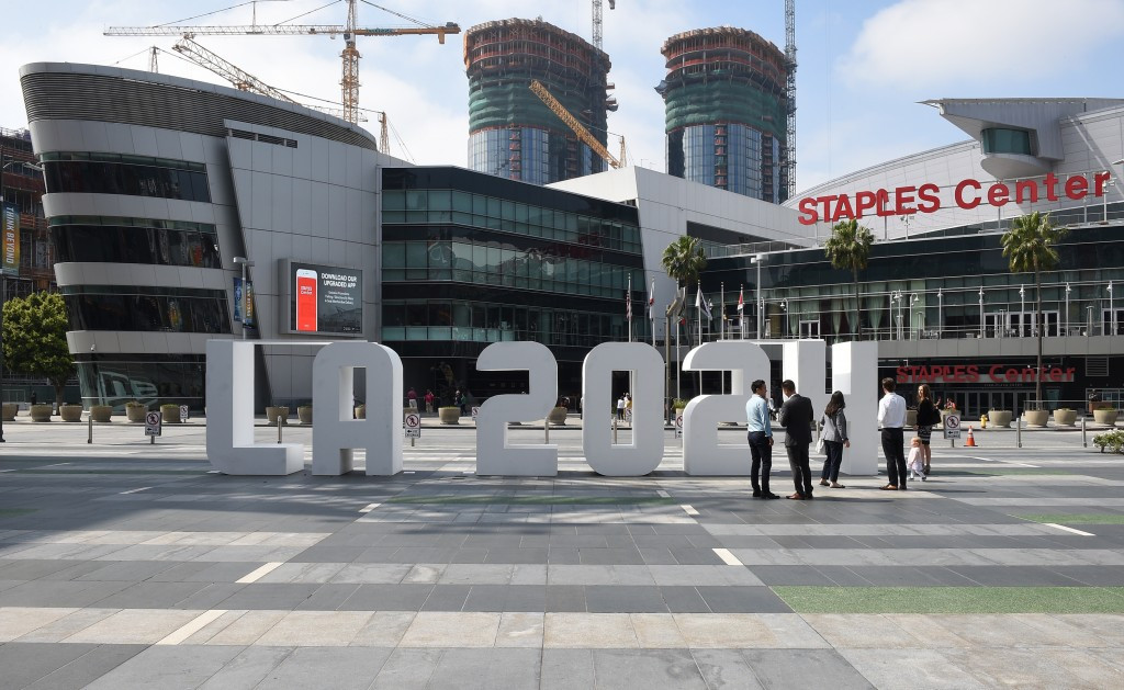 The IOC finished their inspection centre at the Staples Center where basketball would be held ©Getty Images