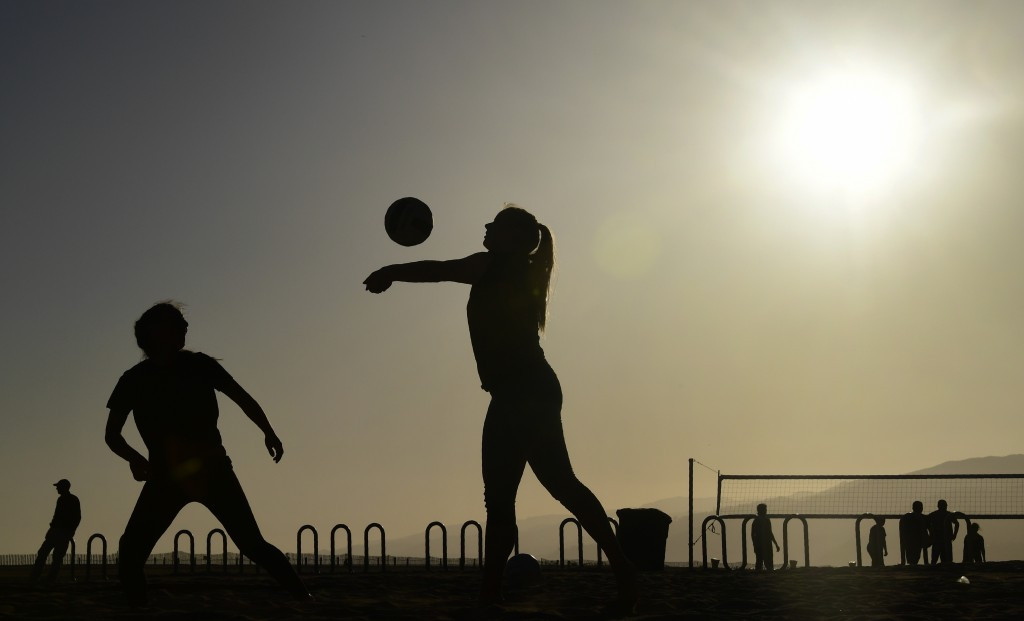 Beach volleyball on Santa Monica Beach was among the potential venues inspected by the IOC ©Getty Images