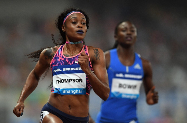 Jamaica's Olympic 100 and 200m champion Elaine Thompson wins over the shorter distance at the Shanghai IAAF Diamond League meeting in 10.78sec ©Getty Images