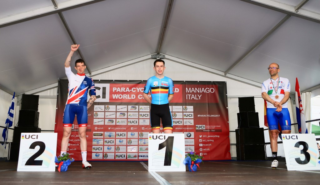 Celen wins gold as road races begin at UCI Para-cycling Road World Cup