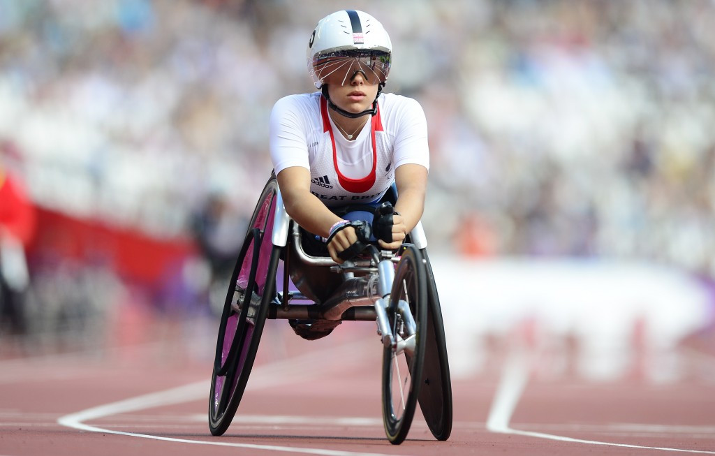 Jade Jones, who has represented Britain in wheelchair racing at two Paralympics, secured a podium finish on her World Para-triathlon debut in Yokohama ©Getty Images