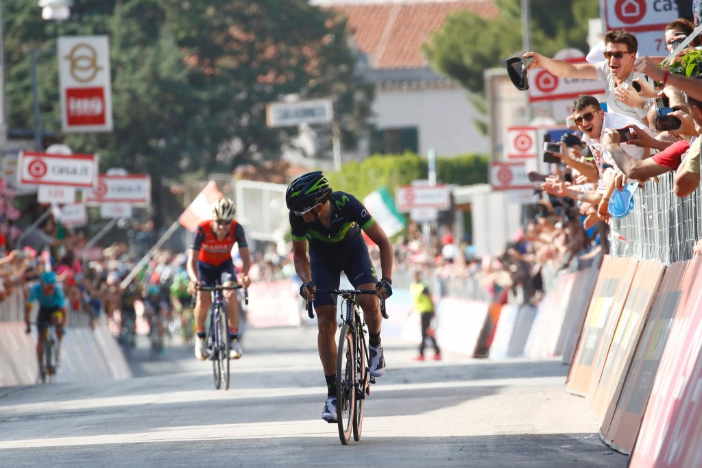 Izaguirre triumphs from breakaway on stage eight of Giro d'Italia