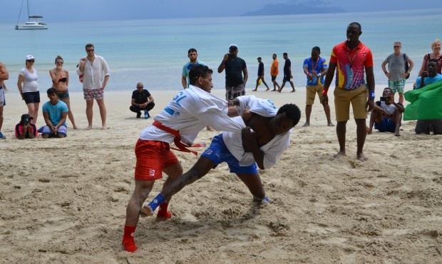 Cameroon and hosts Seychelles both tasted victory in beach sambo as the 2017 African Sambo Championships came to a close today ©FIAS