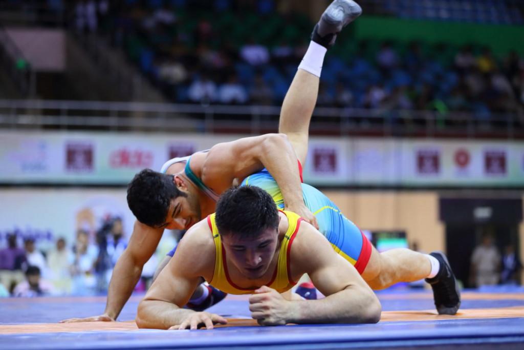 Iran's Alireza Karimimachiani claimed the men's freestyle 86kg crown ©UWW