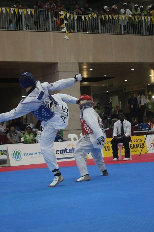 Australia won five of the eight men's taekwondo gold medals on offer today ©Port Moresby 2015