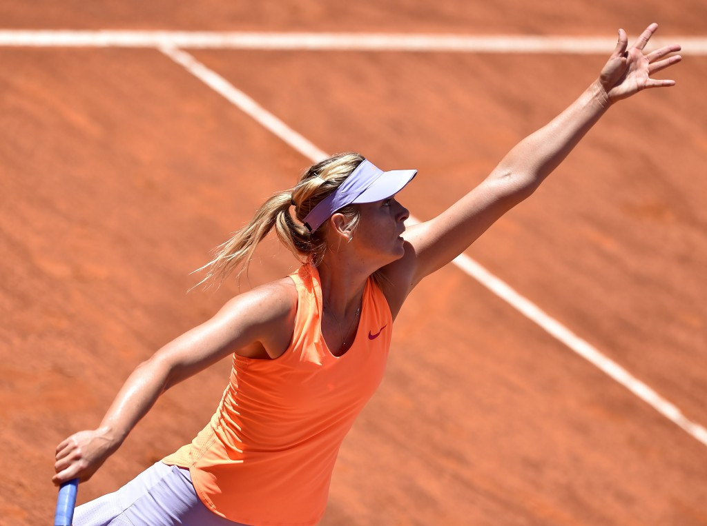 Sharapova beats McHale at Rome Masters