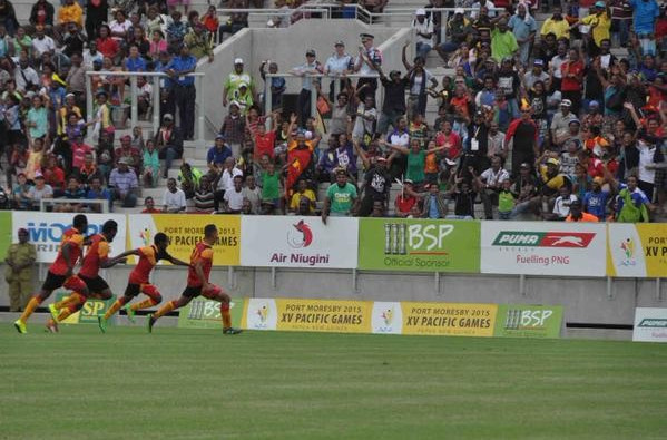 Papua New Guinea won their first football medal since 1987 with victory over Fiji ©Port Moresby 2015