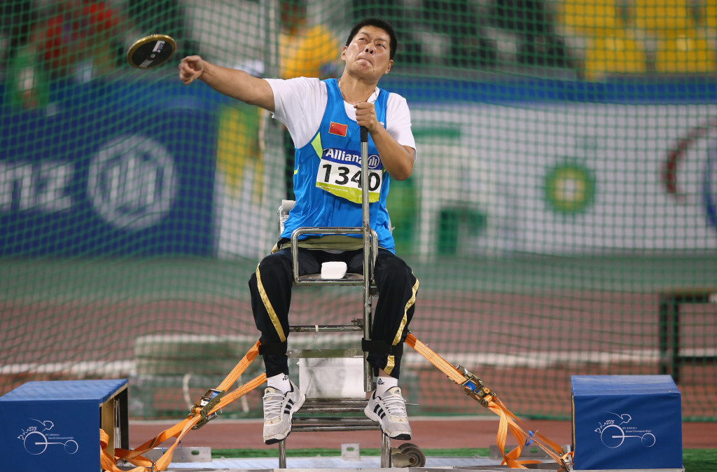 Liwan Yang was among hosts China's triumphant athletes on the final day of competition at the World Para Athletics Grand Prix in Beijing ©Getty Images