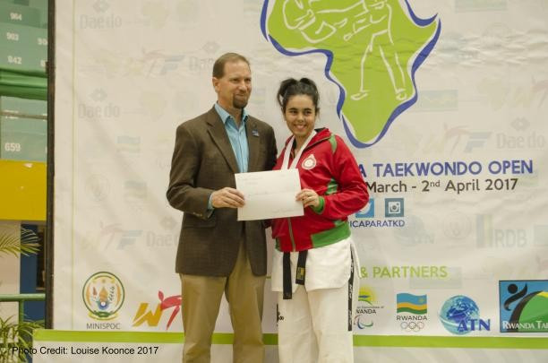 Rajae Akermach is the first African woman to become a Para-taekwondo world number one ©WTF