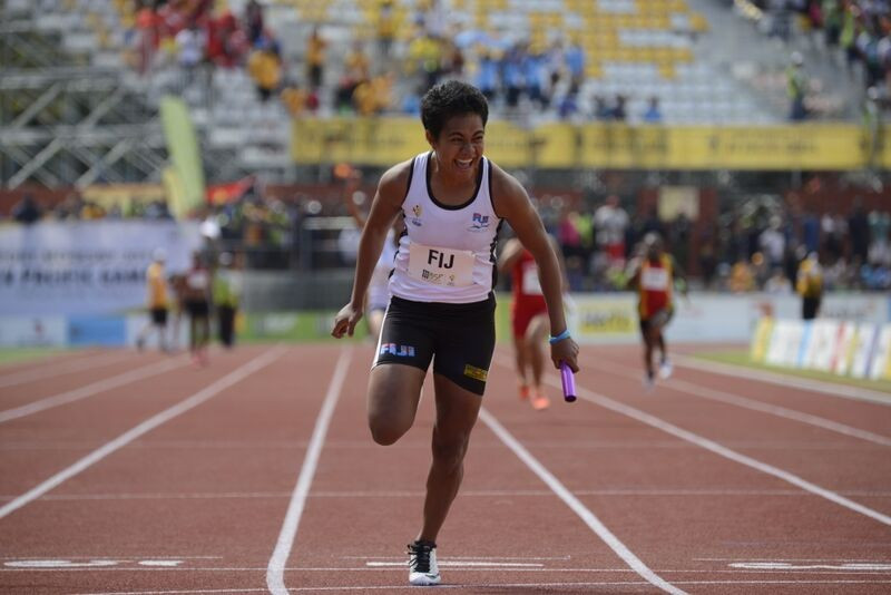 Fiji secured the last track gold at Port Moresby 2015 with victory in the women's 4x100m relay ©Port Moresby 2015