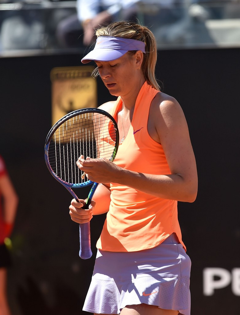 Maria Sharapova made her return following a 15-month drugs ban last month ©Getty Images