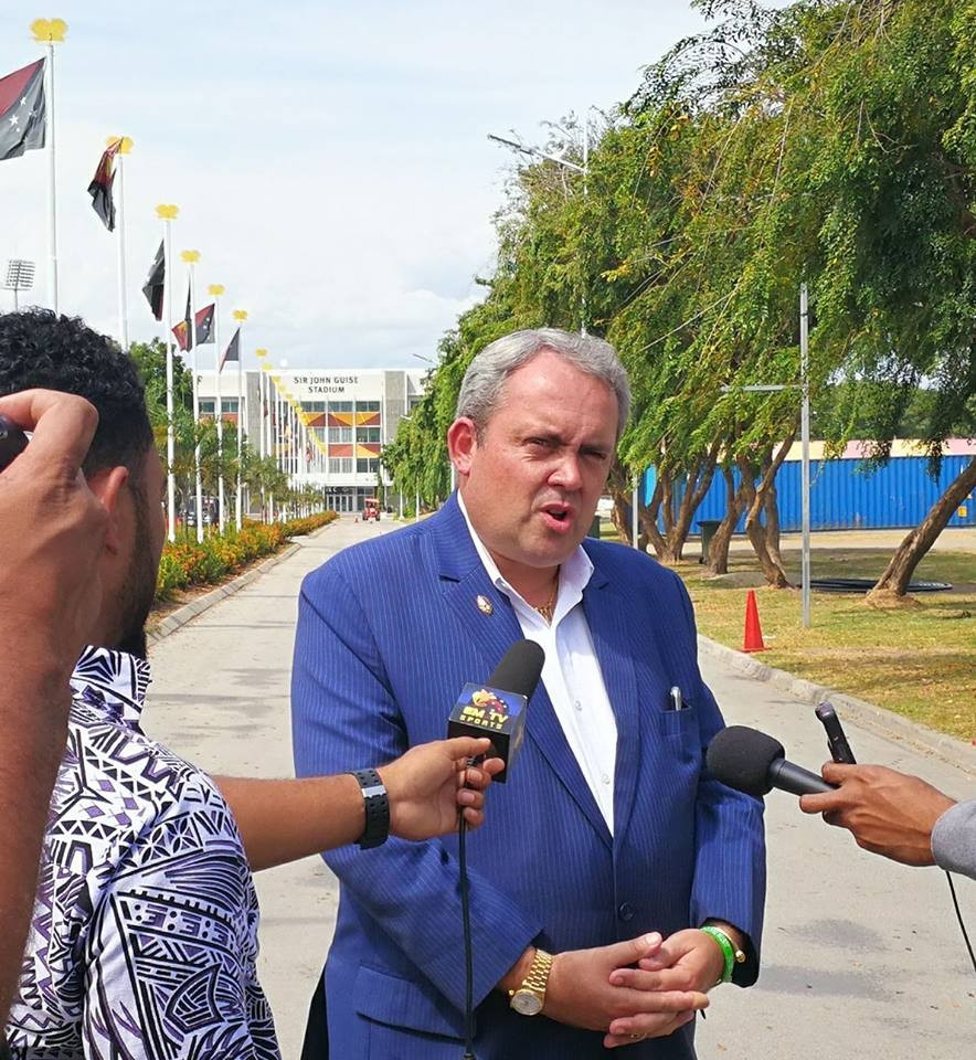 Papua New Guinea Sports Minister Justin Tkatchenko confirmed the country