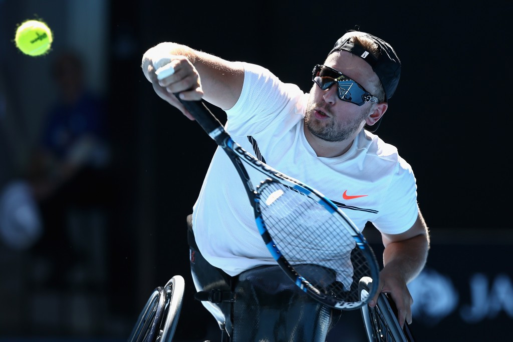 Dylan Alcott, pictured, beat Rio 2016 doubles gold medal-winning partner Heath Davidson today ©Getty Images