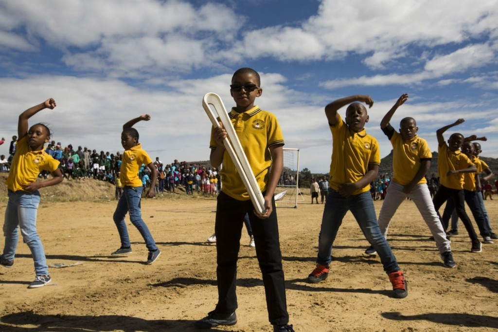 A sports day event was held in Lesotho ©Gold Coast 2018
