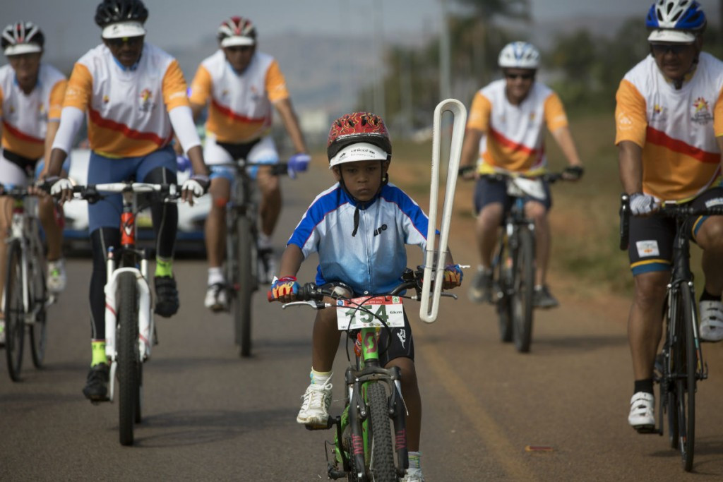 A Relay saw the Baton travel to the Olympafrica centre in Swaziland ©Gold Coast 2018