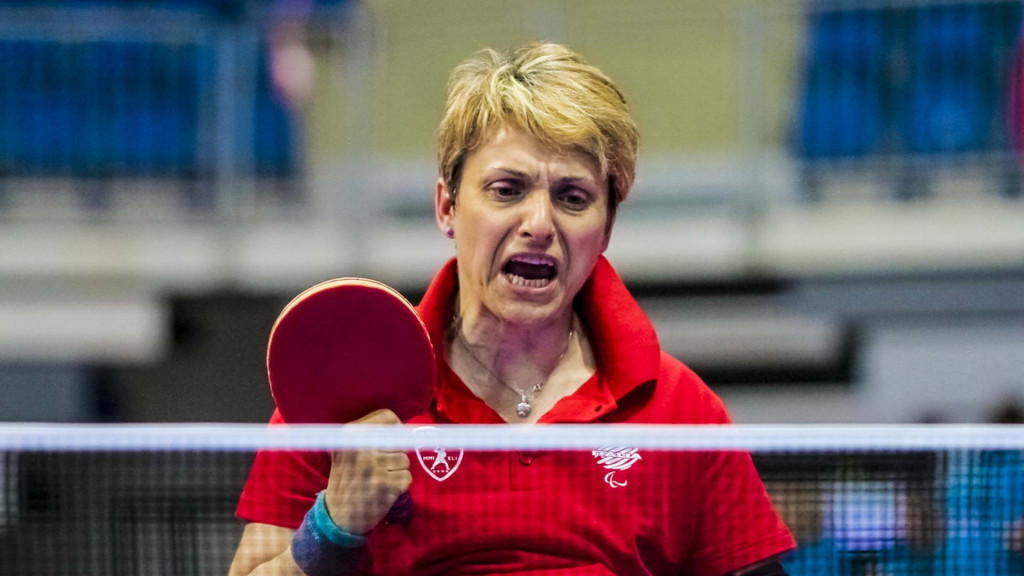 The Italian pairing of Michaela Brunelli, pictured, and Giada Rossi maintained their unbeaten record today ©ITTF