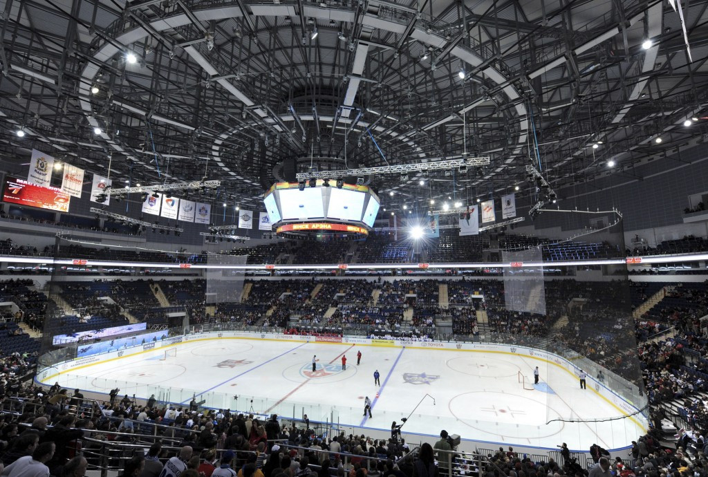 The 14,994-seat Minsk Arena, which has two practice rinks on site, will be used as the primary venue in 2021 ©Getty Images